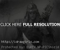 draw Mongol warrior