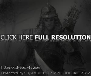 draw mongol warrior 300x252 How to draw Mongol warrior