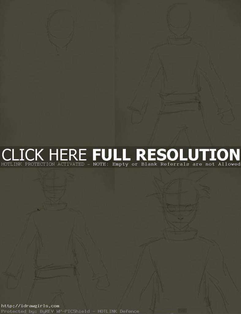 draw naruto step 1 787x1024 How to draw  Naruto Uzumaki