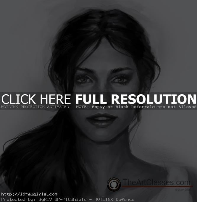 draw realistic face front view