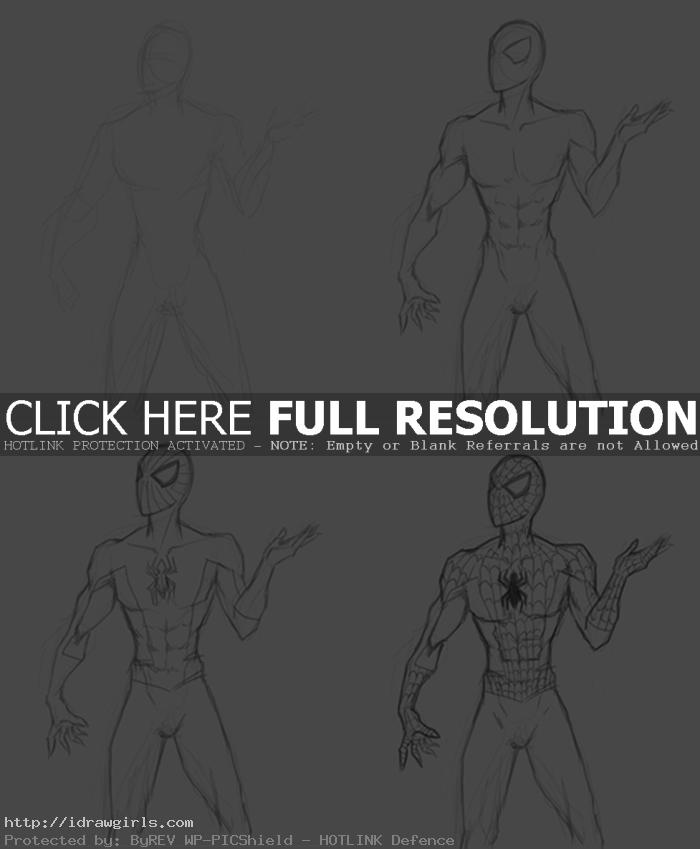 draw spiderman step by step How to draw Spiderman