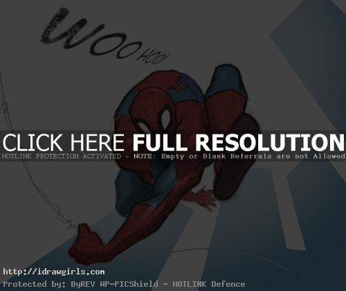 drawing spiderman How to draw Spiderman