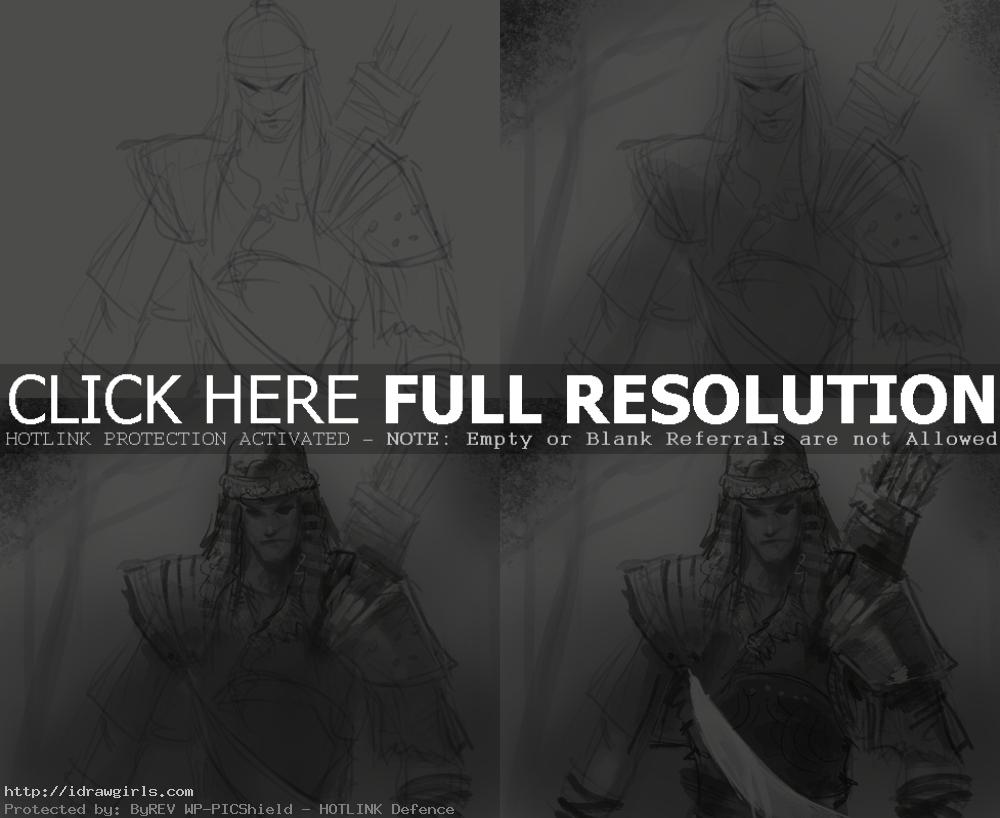 How to draw Mongol warrior