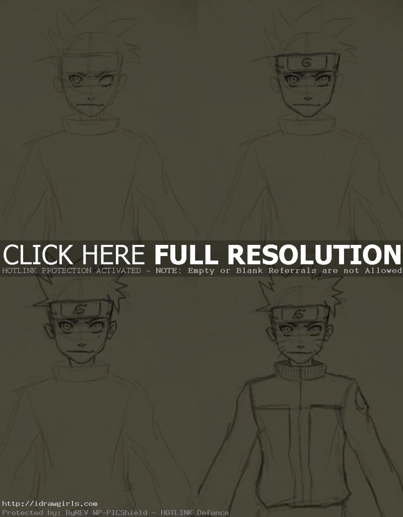 how to draw naruto 798x1024