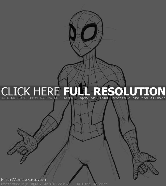 how to draw spiderman1 How to draw Spiderman