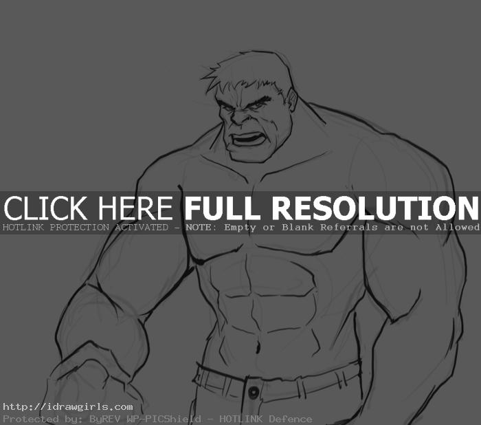 How to draw Hulk