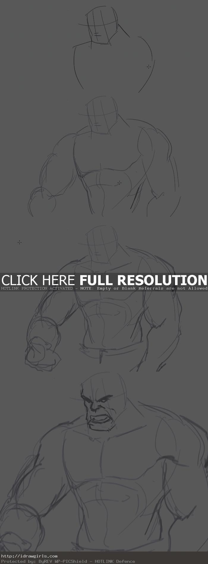 how to draw the hulk How to draw Hulk