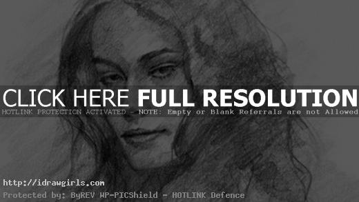 learn to draw female portrait