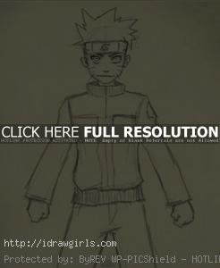 naruto drawing 246x300 How to draw  Naruto Uzumaki