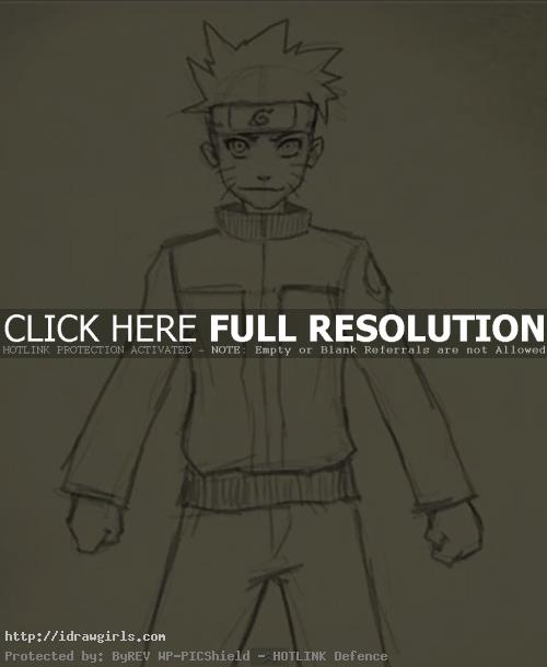 How to draw Naruto Uzumaki