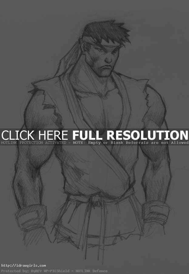 ryu street fighters How to draw Ryu Street Fighter