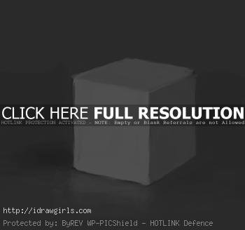 shading excercise white cube How to shade and render drawing