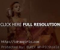 cabaret girl impressionism painting