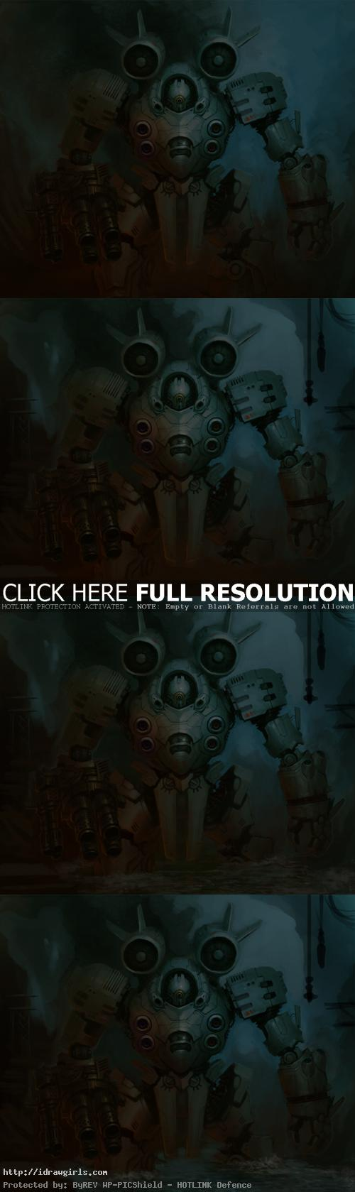 character design mecha concept How to draw and paint Mecha concept art