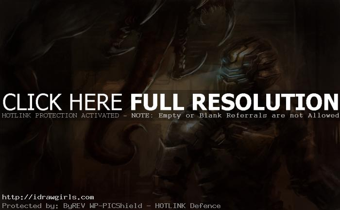 Digital painting tutorial Dead Space 2
