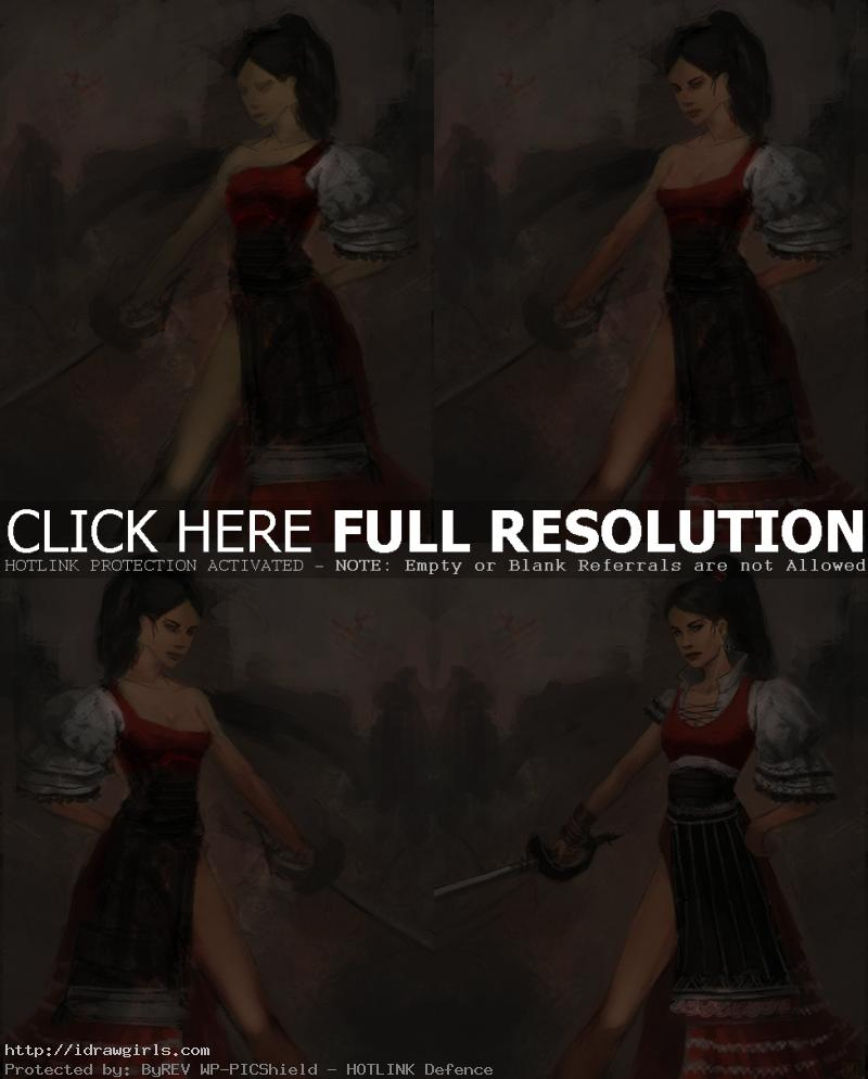 digital painting tutorial musketeer How to draw musketeer