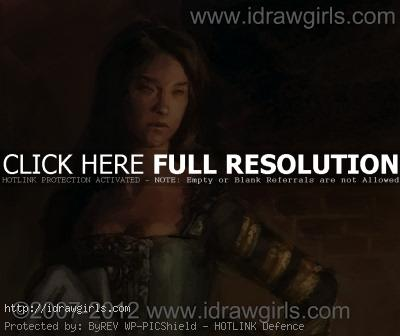 Digital Painting tutorial court lady