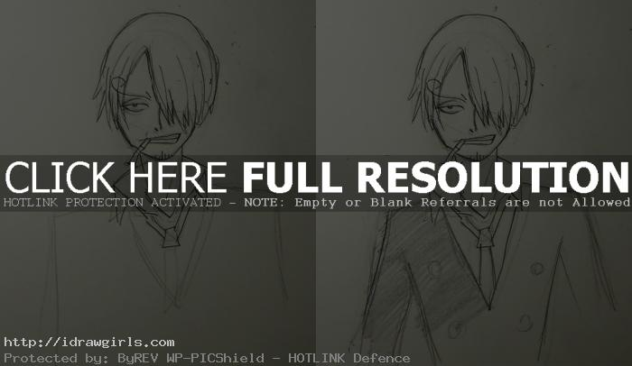 draw Anime One Piece Sanji