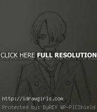 draw Sanji One Piece