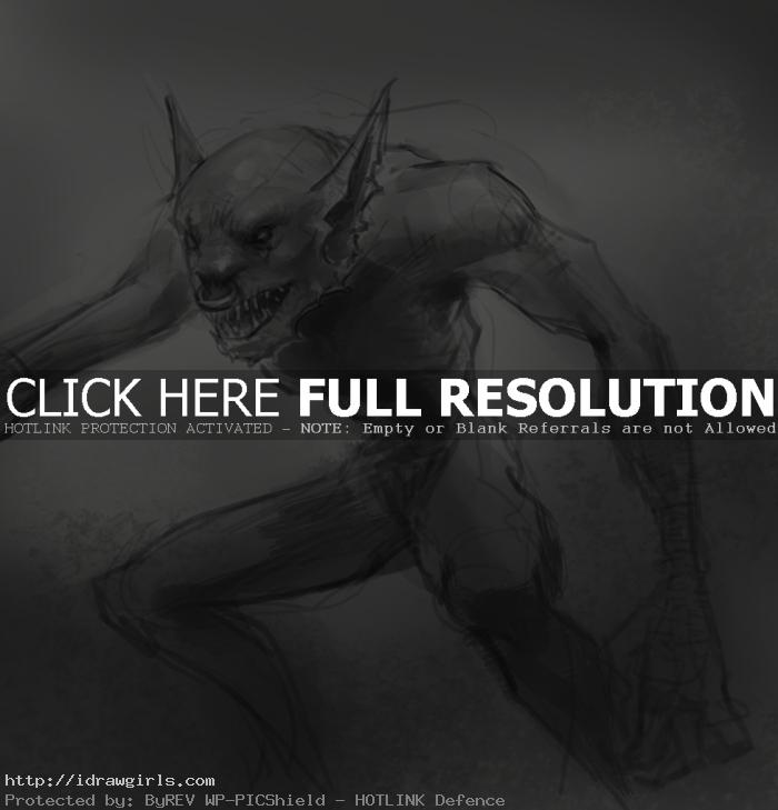 drawing goblin How to draw goblin