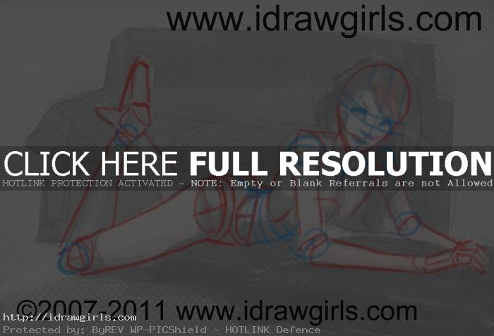 drawing reclining figure