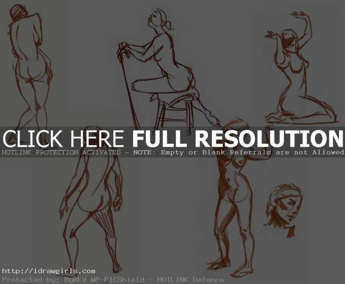 gesture drawing one minute brush Gesture drawing tips and technique