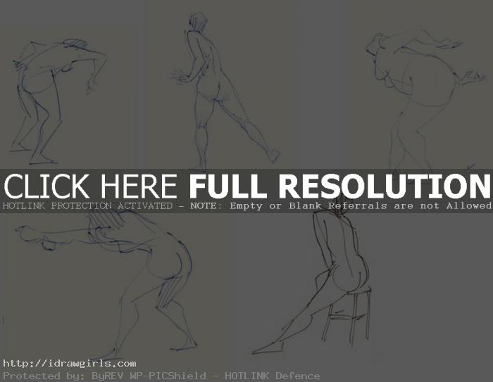 gesture drawing one minute