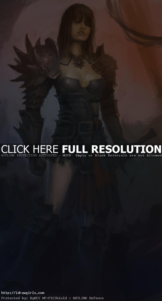 guildwars 2 concept art girl 554x1024 QA on using references for art