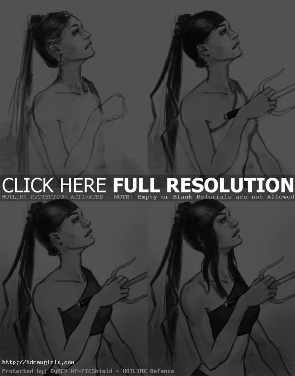 how to draw Elektra How to draw Elektra