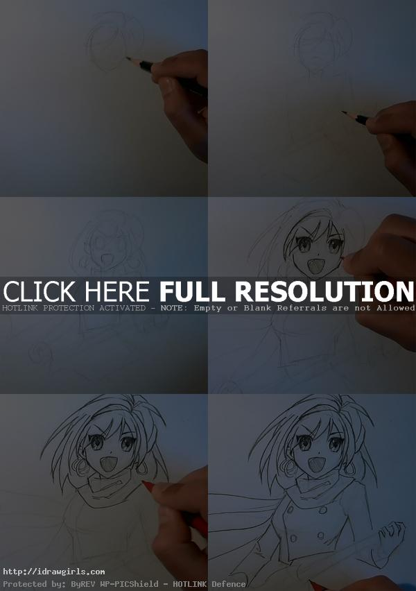 how to draw anime haruhi How to draw Haruhi Suzumiya