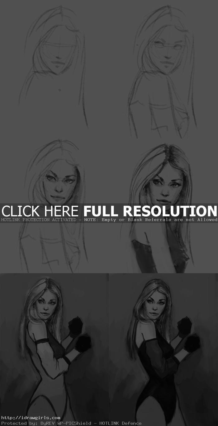 how to draw black canary How to draw Black Canary