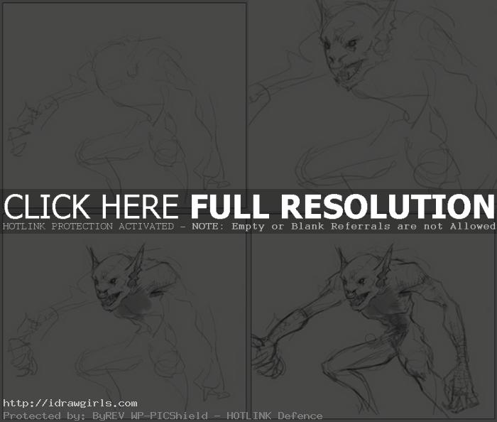 how to draw goblin How to draw goblin