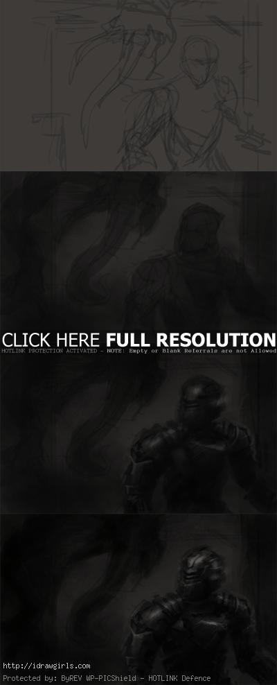 how to draw isaac dead space Digital painting tutorial Dead Space 2