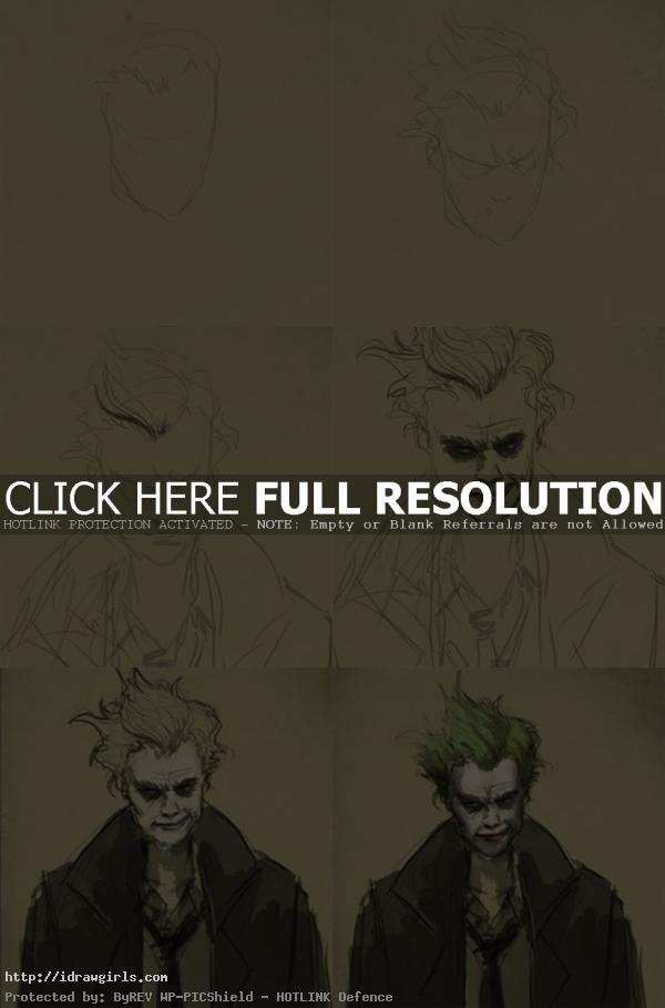 how to draw joker How to draw Joker