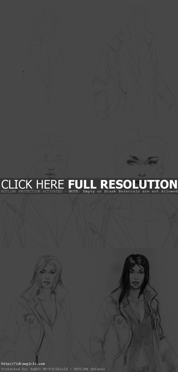 how to draw Naomi Metal Gear