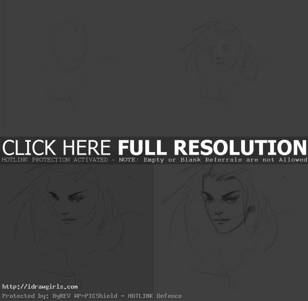 how to draw Shadowcat face