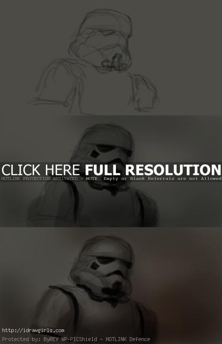 how to draw stormtrooper How to draw and paint Stormtrooper
