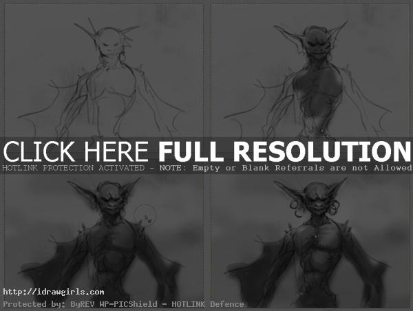 how to draw vampire bat How to draw vampire bat monster