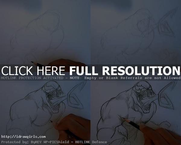 how to draw venom How to draw Venom