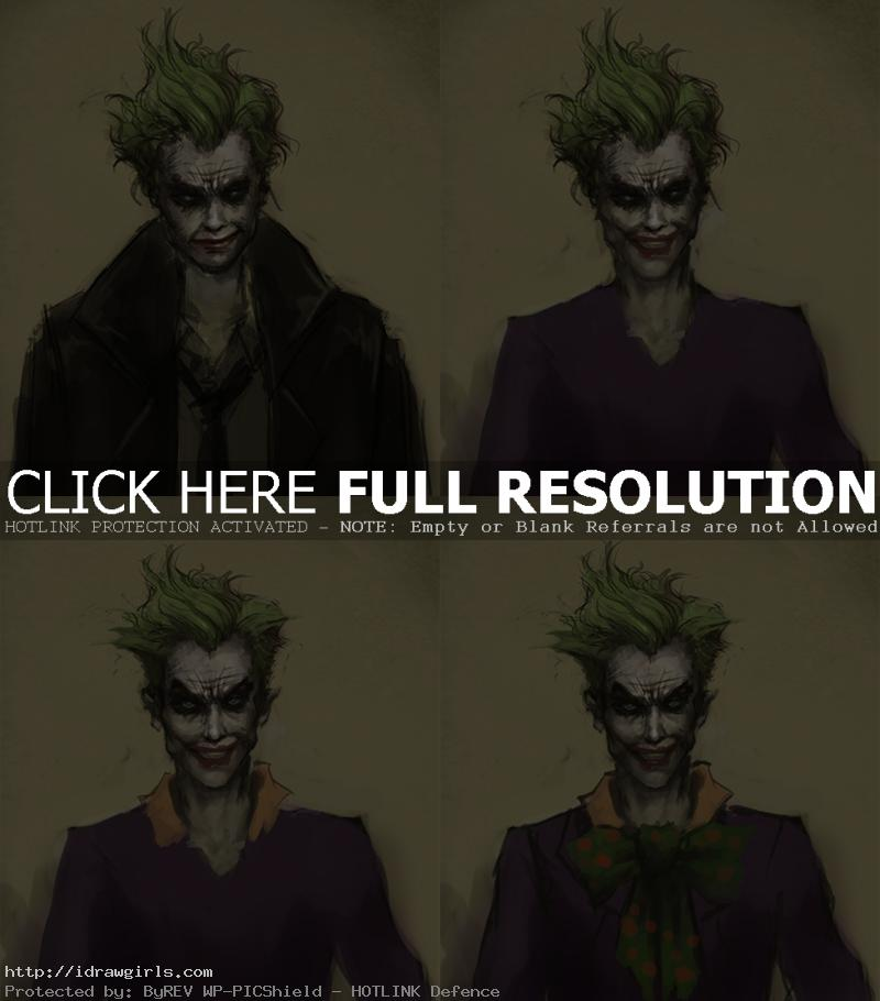 how to paint joker How to draw Joker