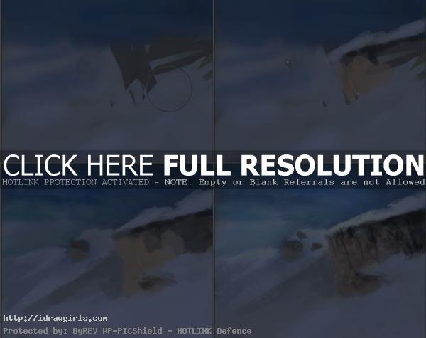 How to paint snow landscape