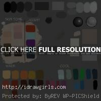 digital painting color palette idrawgirls