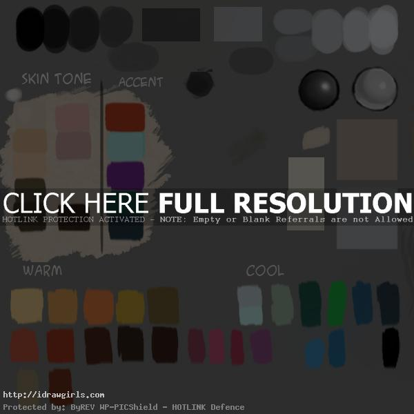 idrawgirls color palette How to use color palette in Photoshop