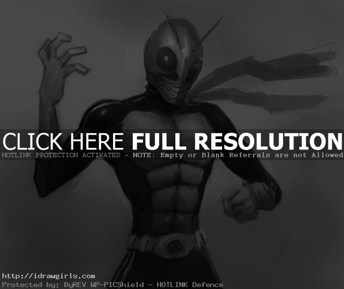 kamen rider v1 How to draw Kamen rider