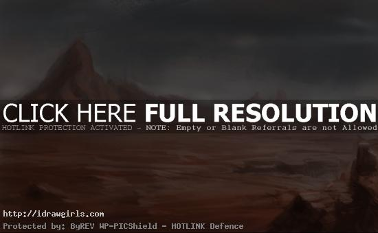 painting sand valley concept art How to paint sand valley landscape