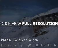 painting snow landscape