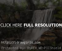 painting tutorial waterfall