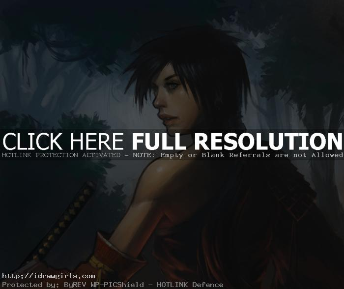 rogue samurai How to draw samurai woman