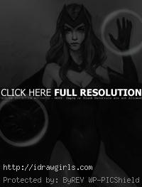 Scarlet Witch drawing