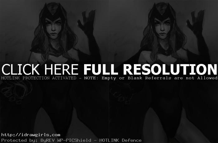shading scarlet witch How to draw Scarlet Witch